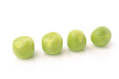Green peas. On white background Stock Image