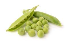 Green peas. On white background Stock Photo