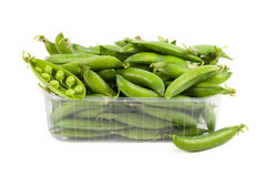 Green peas  on white background Royalty Free Stock Photography