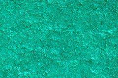 Green Pebble Dash. Green Textured Pebble Dashing on Side of House stock photo