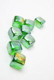 Green pebbles stock photo