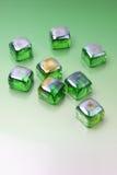 Green pebbles Stock Photos