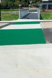 Green pedestrian crossing Royalty Free Stock Image