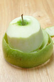 Green peeled apple Royalty Free Stock Images