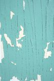 Green peeling paint. Old green peeling paint texture royalty free stock photography