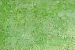 Green Peeling Paint on the Wall Royalty Free Stock Image