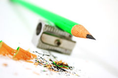 Green pencil Royalty Free Stock Photo