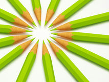 Green pencil. Fine image of colorful pencil green composition background Royalty Free Stock Images