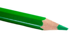 A green pencil expanded very sharp Stock Photography