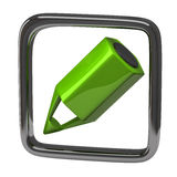 Green pencil icon Royalty Free Stock Images