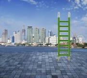 Green pencil ladder Royalty Free Stock Photo