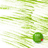 Green pencil strokes abstract background Royalty Free Stock Photos