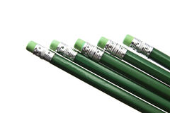 Green pencils Stock Photo