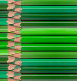 Green pencils background Royalty Free Stock Images