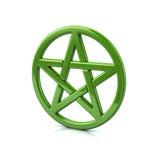 Green pentacle Royalty Free Stock Image