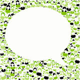 Green people background with talk speech frame Stock Image