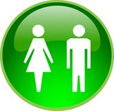 Green people button Stock Image
