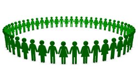 Green People in a Circle Royalty Free Stock Photo