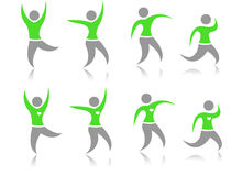 Green people Icons Stock Images