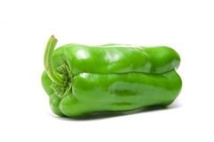 Green Pepper. Isolated on White Background Stock Images