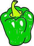 Green pepper Stock Photo