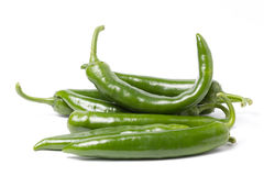 Green Pepper. Group of green peppers  on white Royalty Free Stock Photography