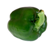 Green pepper. On a plain white background Stock Image