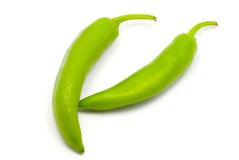 Green pepper. On white background Royalty Free Stock Photography