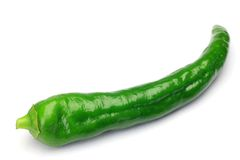 Green pepper. This is slim green pepper Stock Photo