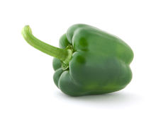 Green pepper. Isolated on white Stock Photos
