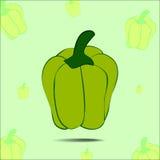 green pepper Royaltyfri Illustrationer