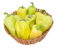 Green pepper in the basket Royalty Free Stock Image