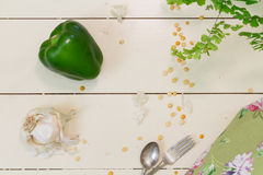 green pepper or bell pepper royalty free stock photos