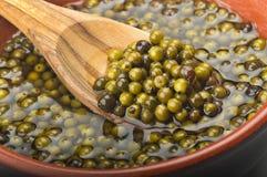 Green pepper grains Stock Photo