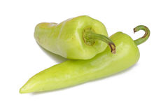 Green pepper. Isolated on a white background Royalty Free Stock Photography