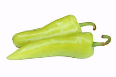 Green pepper. Isolated on a white background Royalty Free Stock Photos