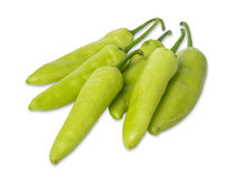 Green pepper isolated on white. Background Royalty Free Stock Images