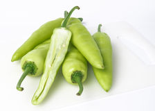 Green pepper isolated on a white. Background Royalty Free Stock Images