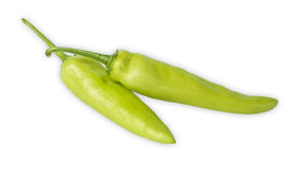 Green pepper isolated on a white Royalty Free Stock Photo