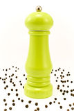 Green pepper mill Royalty Free Stock Images
