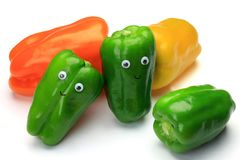 Green pepper and paprika Royalty Free Stock Image