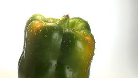 Green pepper rotates stock video footage