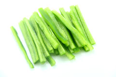 Green pepper strips Stock Images