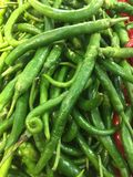 Green pepper. Supermarket vegetables and fruits in various colors Royalty Free Stock Photos
