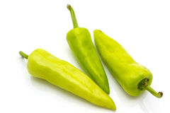 Green pepper. (sweet pepper) isolated on a white background Stock Photo