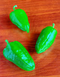 Green pepper on table Stock Photography