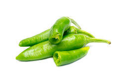 Green pepper on white background Royalty Free Stock Photos