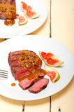 Green peppercorn beef filet mignon Royalty Free Stock Images