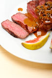 Green peppercorn beef filet mignon Stock Images