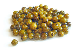 Green peppercorns Stock Images